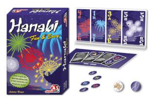 Schachtel, Spielkarten und Chips - Spiel des Jahres 2013- Hanabi Fun & Easy