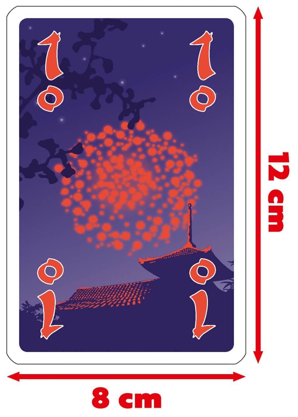 Abmessungen Spielkarte - Spiel des Jahres 2013- Hanabi Fun & Easy