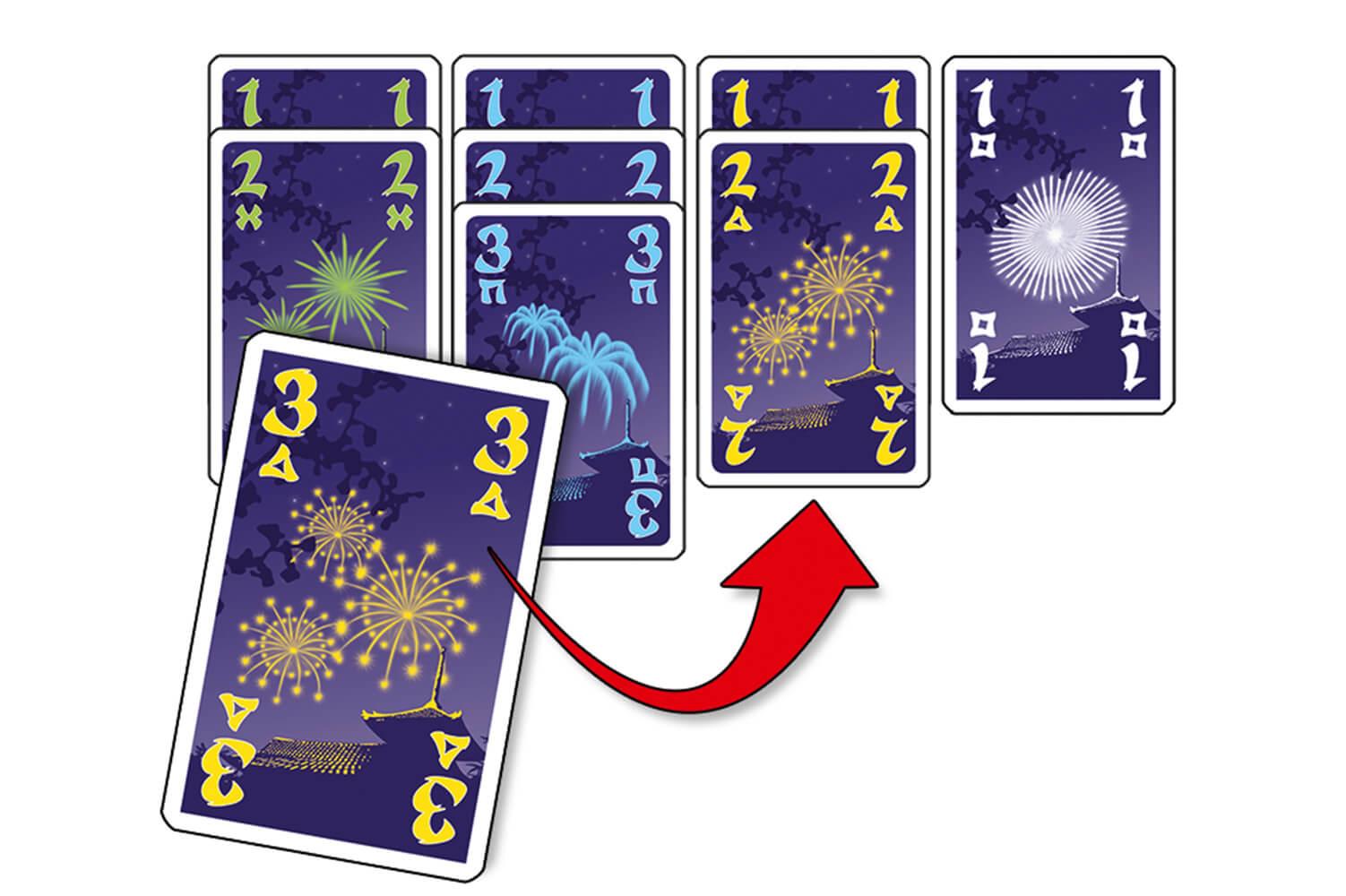 Kartenstapel erklärt- Hanabi Pocket