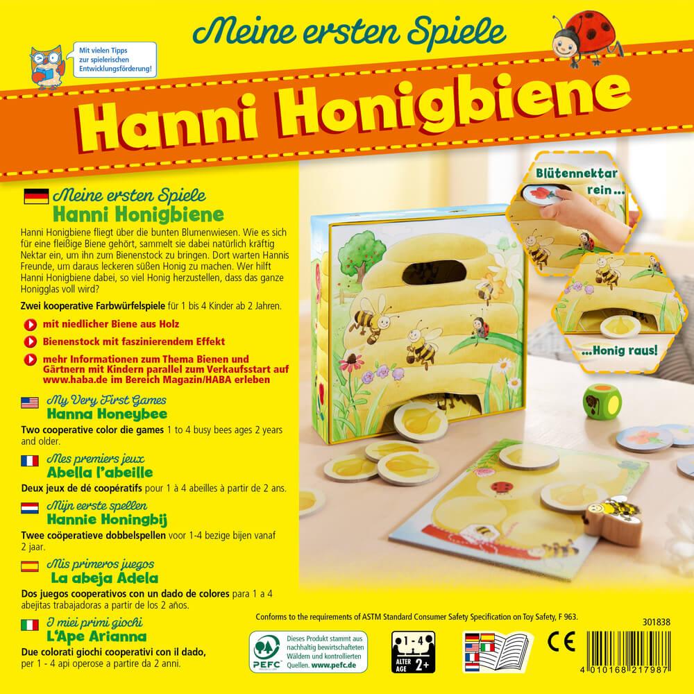 Schachtel Rückseite- My very first games - Hanna Honeybee