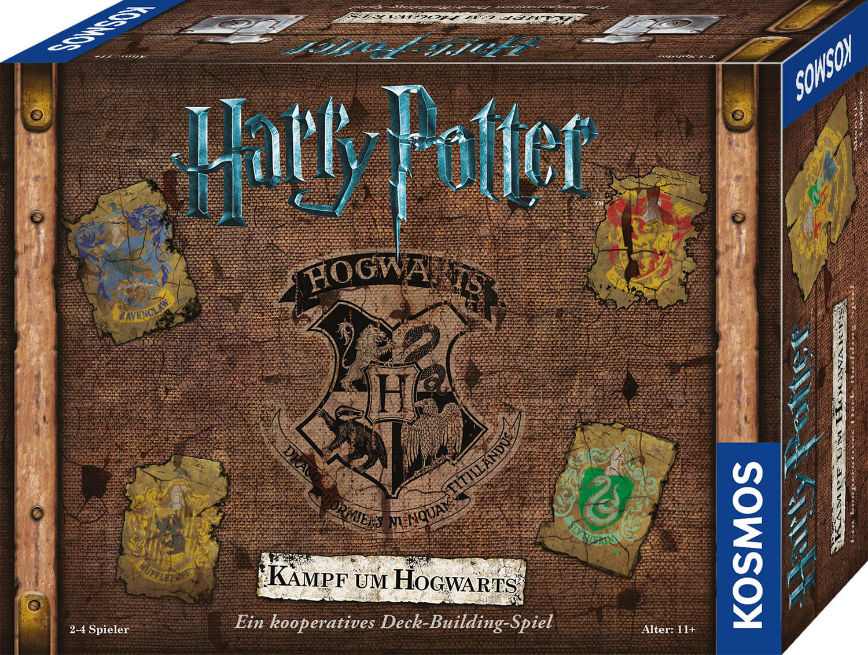 Schachtel Vorderseite - Zauberhaftes Familienspiel- Harry Potter - Kampf um Hogwarts