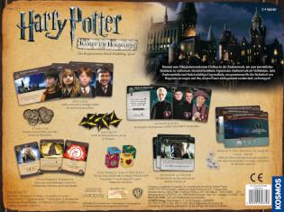 Schachtel Rückseite - Zauberhaftes Familienspiel- Harry Potter - Kampf um Hogwarts
