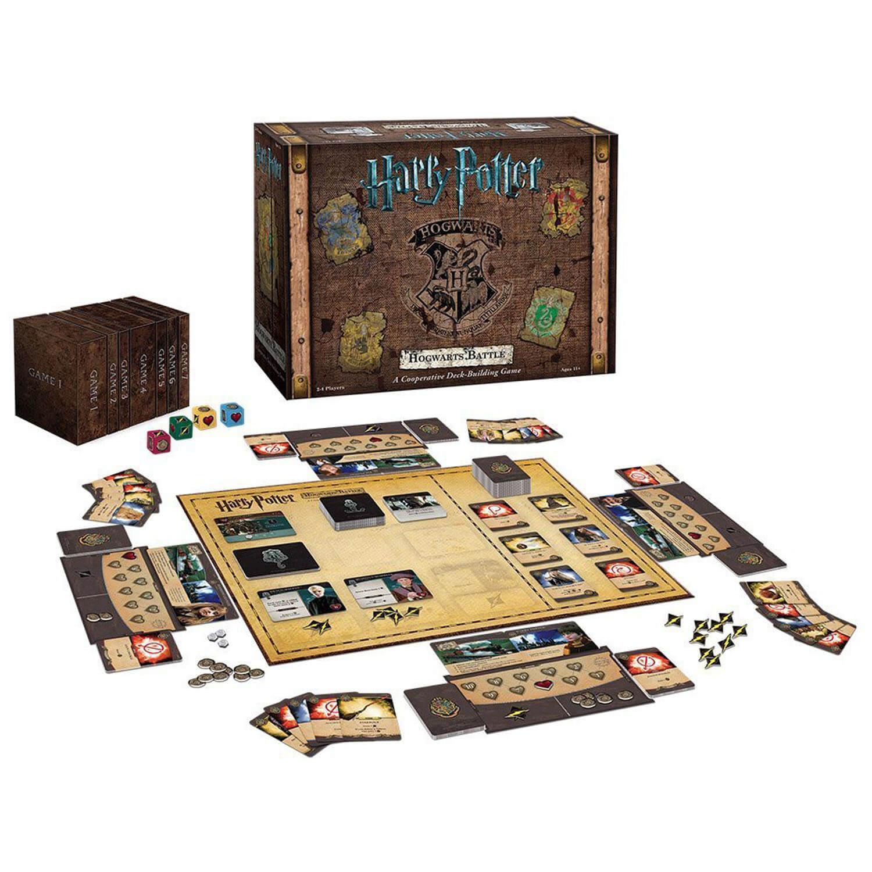 Spielplan mit Heldentafeln und Schachtel - Zauberhaftes Familienspiel- Harry Potter - Kampf um Hogwarts