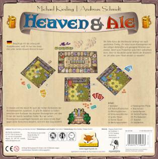 Schachtel Rückseite - nominiert zum Kennerspiel des Jahres 2018- Heaven & Ale