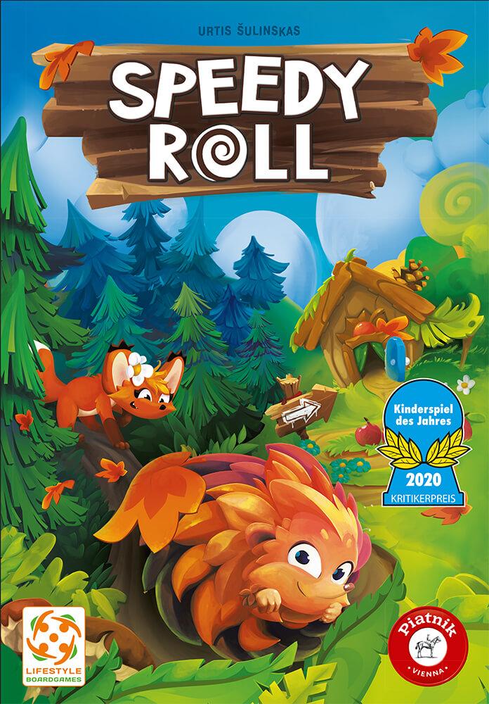 Schachtel Vorderseite - Kinderspiel des Jahres 2020- Speedy Roll