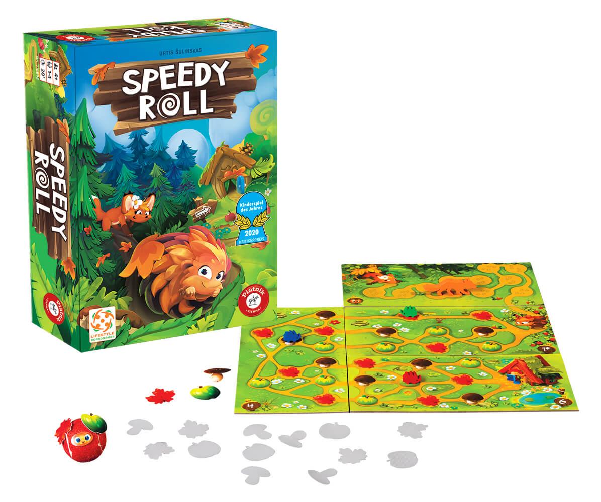 Spielmaterial mit Filzball - Kinderspiel des Jahres 2020- Speedy Roll