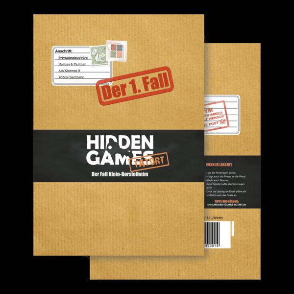 Schachtel Vorderseite- Hidden Games: Der Fall Klein-Borstelheim