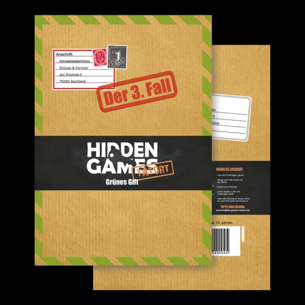 Schachtel Vorderseite- Hidden Games: Grünes Gift