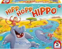 Schachtel Vorderseite - nominiert zum Kinderspiel 2021 - Hipp Hopp Hippo