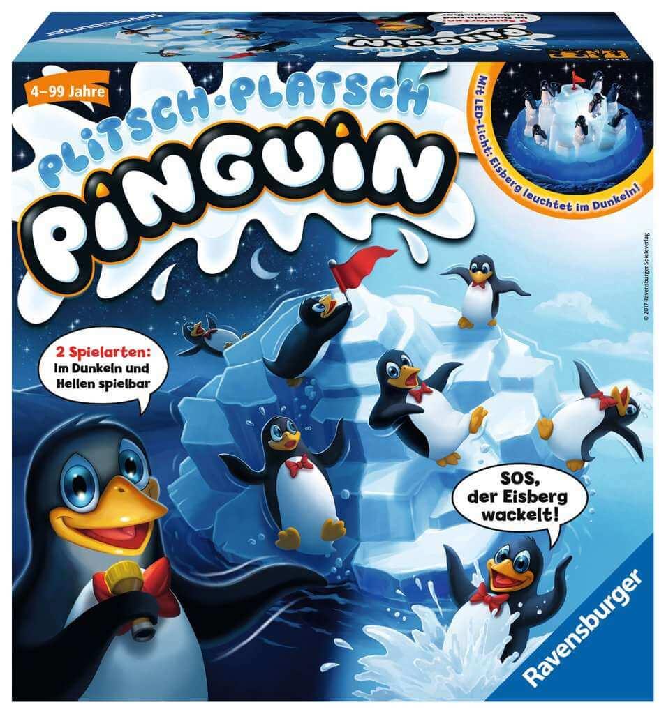 Schachtel Vorderseite- Plitsch-Platsch Pinguin
