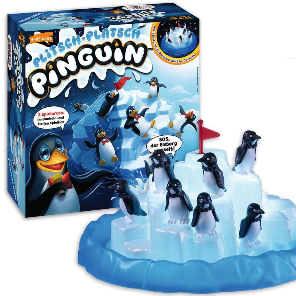 Schachtel mit Spielmaterial- Plitsch-Platsch Pinguin