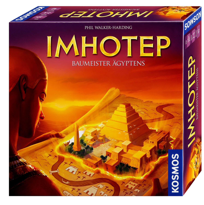 Schachtel Vorderseite, rechte Seite- Imhotep