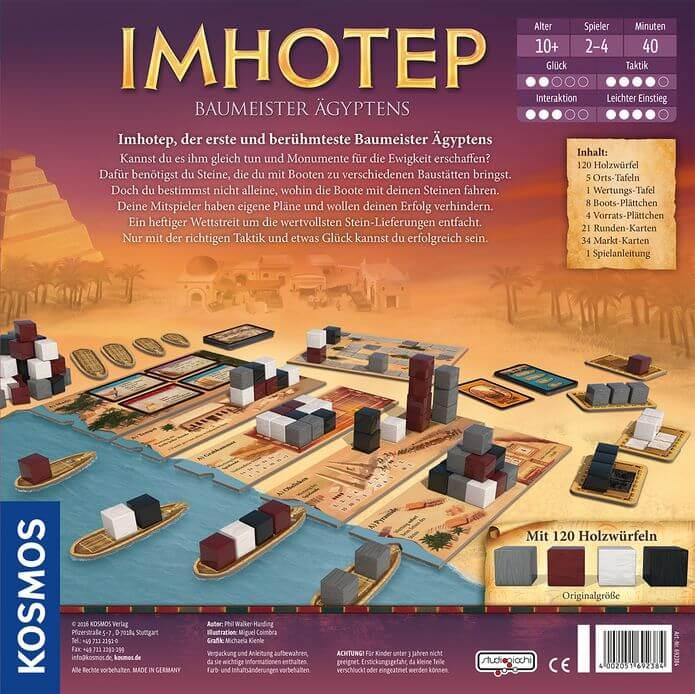 Schachtel Rückseite- Imhotep
