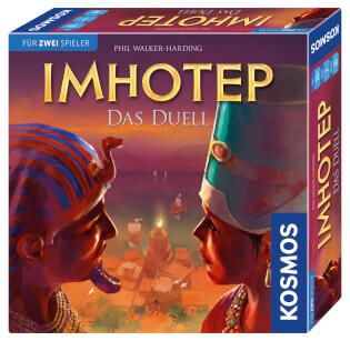 Schachtel Vorderseite, rechte Seite- Imhotep - Das Duell