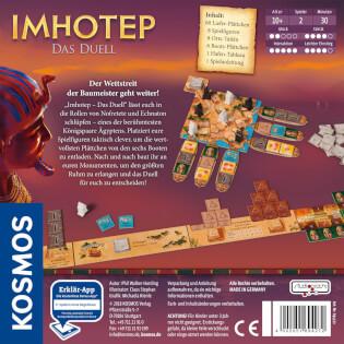 Schachtel Rückseite- Imhotep - Das Duell