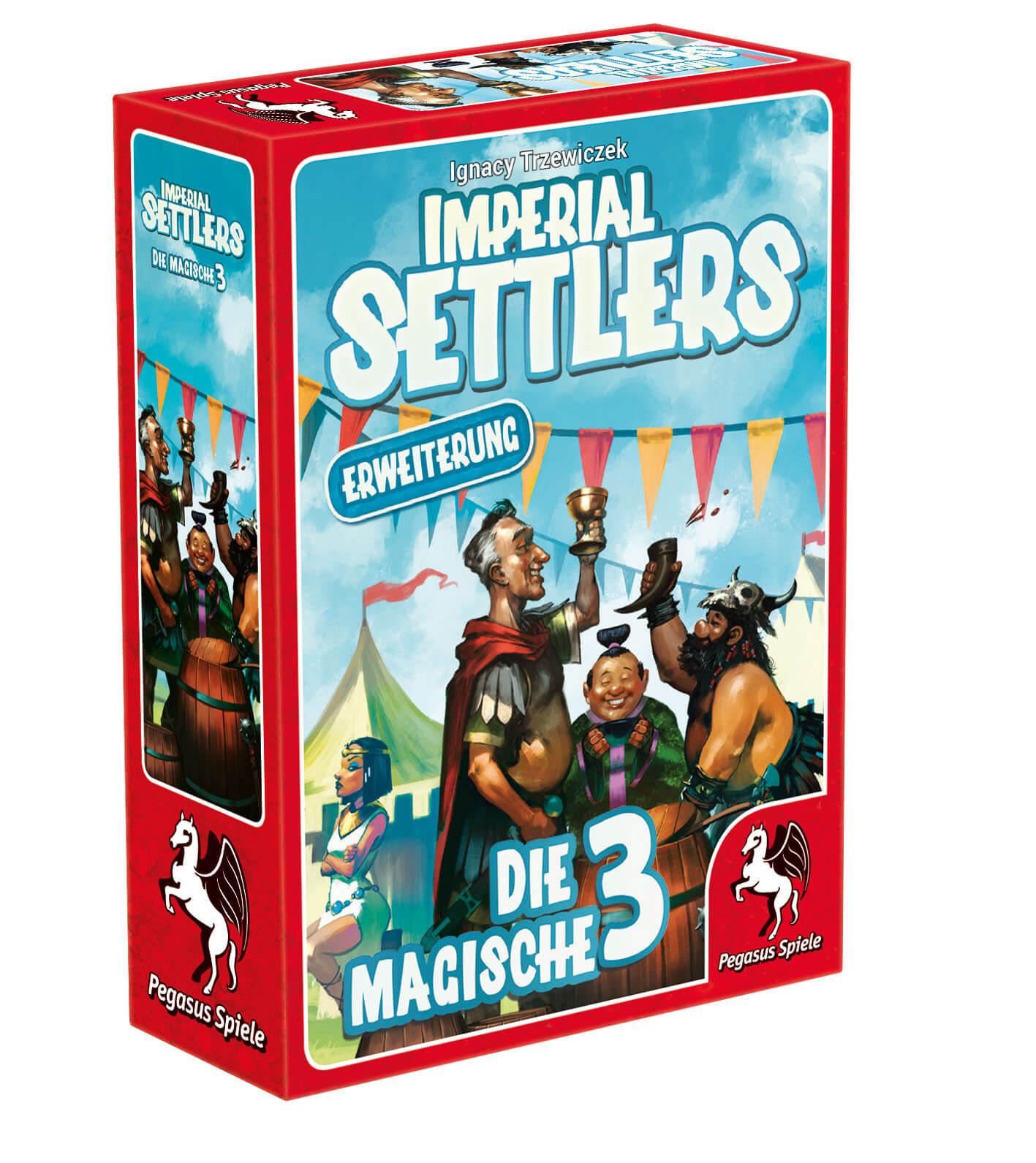 Schachtel Vorderseite links- Imperial Settlers - Die magische 3