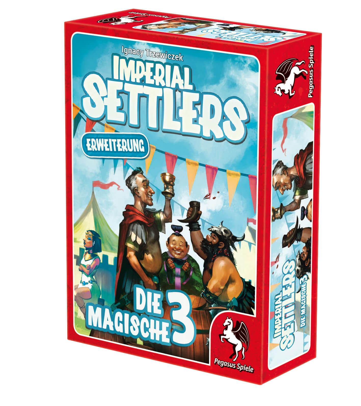 Schachtel Vorderseite rechts- Imperial Settlers - Die magische 3
