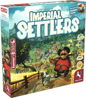 Schachtel Vorderseite links- Imperial Settlers