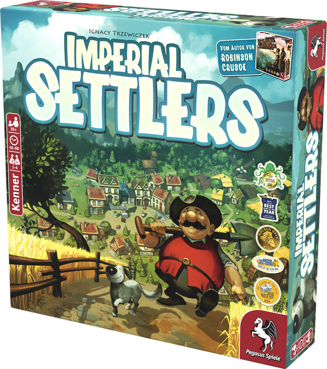 Schachtel Vorderseite rechts- Imperial Settlers