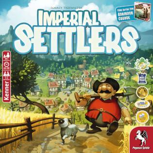 Schachtel Vorderseite- Imperial Settlers
