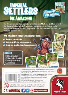 Schachtel Rückseite- Imperial Settlers: Die Amazonen