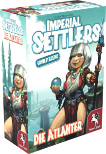 Schachtel Vorderseite links- Imperial Settlers: Die Atlanter