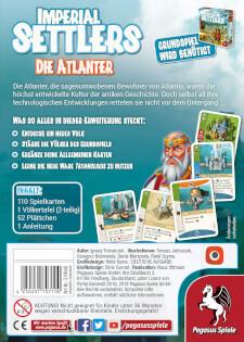 Schachtel Rückseite- Imperial Settlers: Die Atlanter