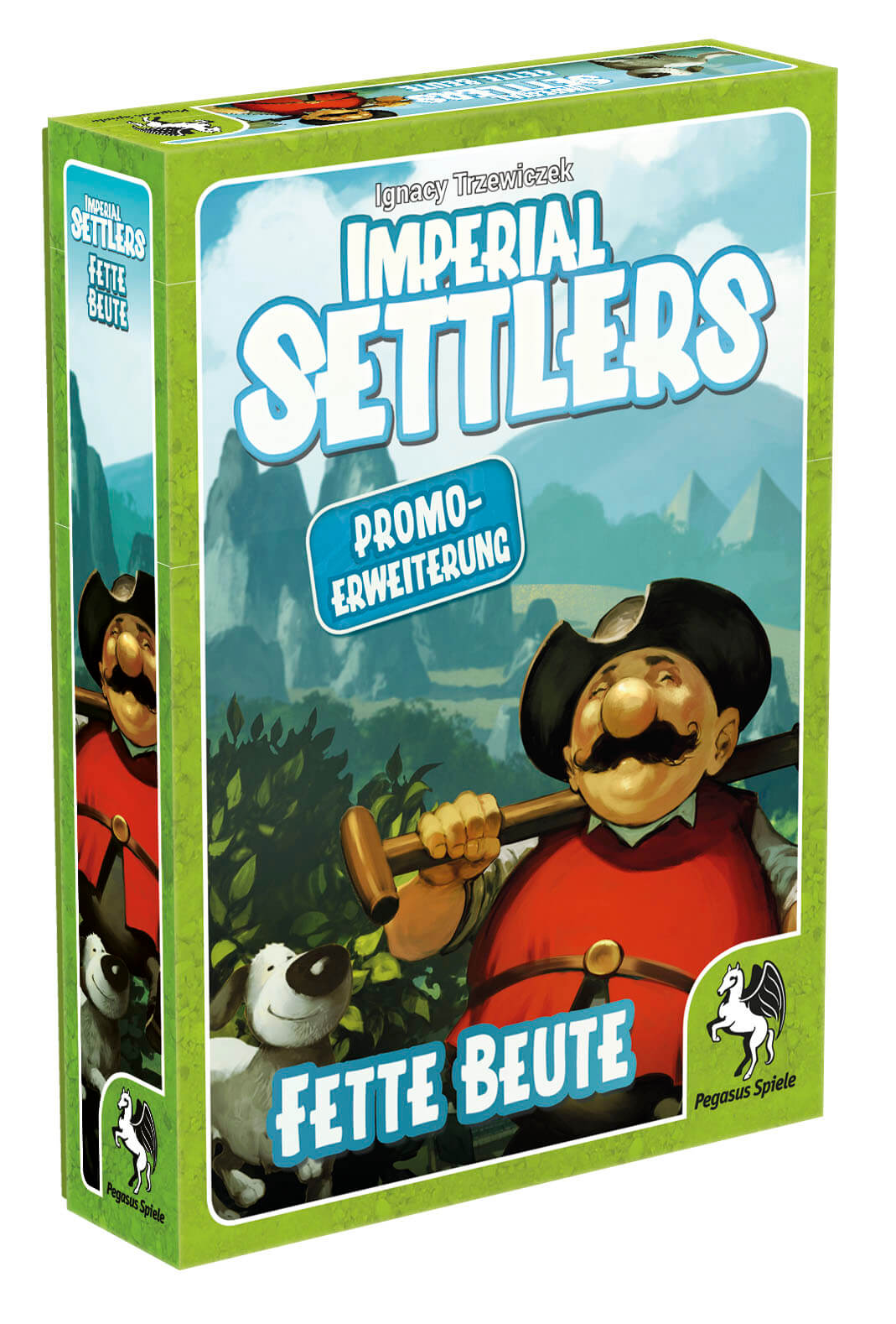 Schachtel Vorderseite links- Imperial Settlers: Fette Beute