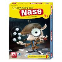 Schachtel Vorderseite - empfohlen zum Kinderspiel 2021 - Inspektor Nase
