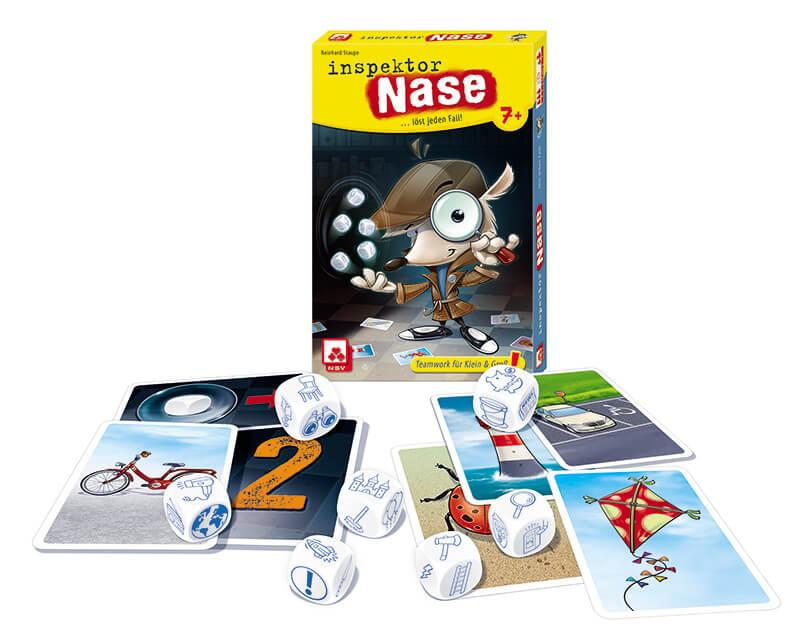 Spielmaterial  - empfohlen zum Kinderspiel 2021- Inspektor Nase