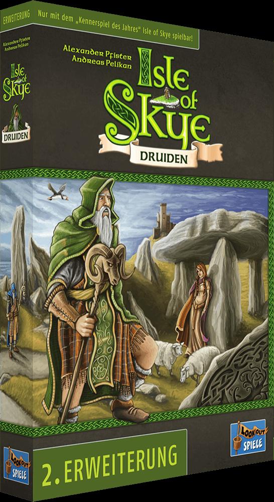 Schachtel Vorderseite, linke Seite- Isle of Skye - Druiden