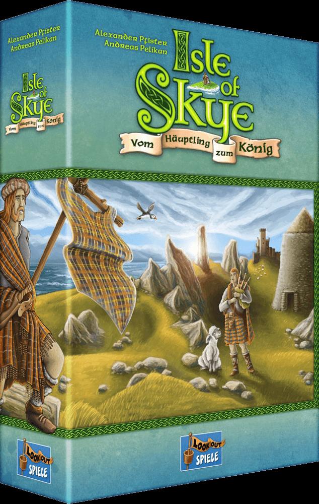 Schachtel Vorderseite, linke Seite - Kennerspiel des Jahres 2016- Isle of Skye