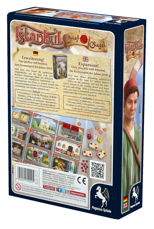 Schachtel Rückseite- Istanbul: Letters & Seals