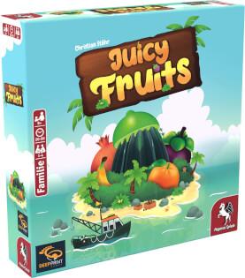 Schachtel Vorderseite, linke Seite- Juicy Fruits
