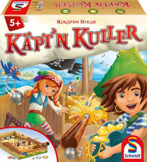 Schachtel Vorderseite - nominiert zum Kinderspiel 2021- Käpt