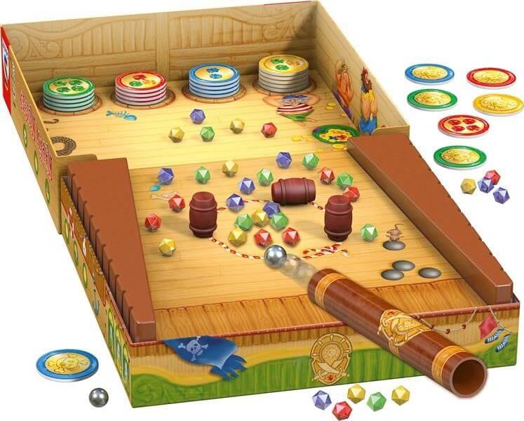 Spielaufbau mit Kugelkuller - nominiert zum Kinderspiel 2021- Käpt
