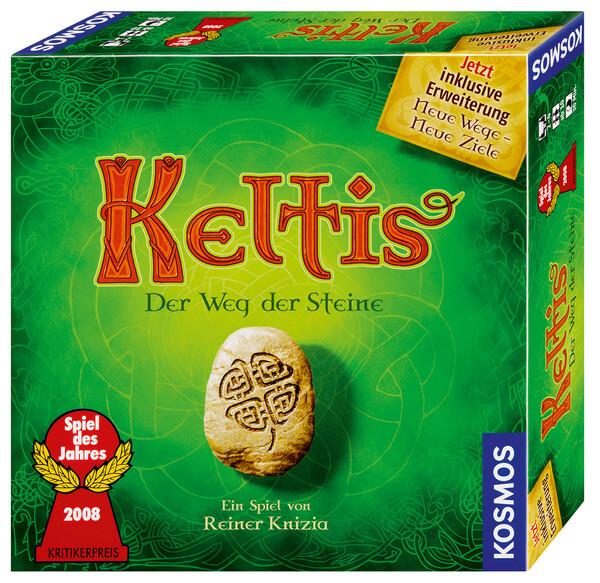Schachtel Vorderseite - Spiel des Jahres 2008- Keltis