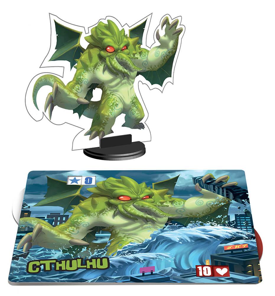 Spielmaterial Plan und Monster- King of Tokyo: Monsterpack 1 Cthulhu
