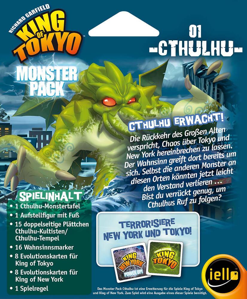 Schachtel Rückseite- King of Tokyo: Monsterpack 1 Cthulhu