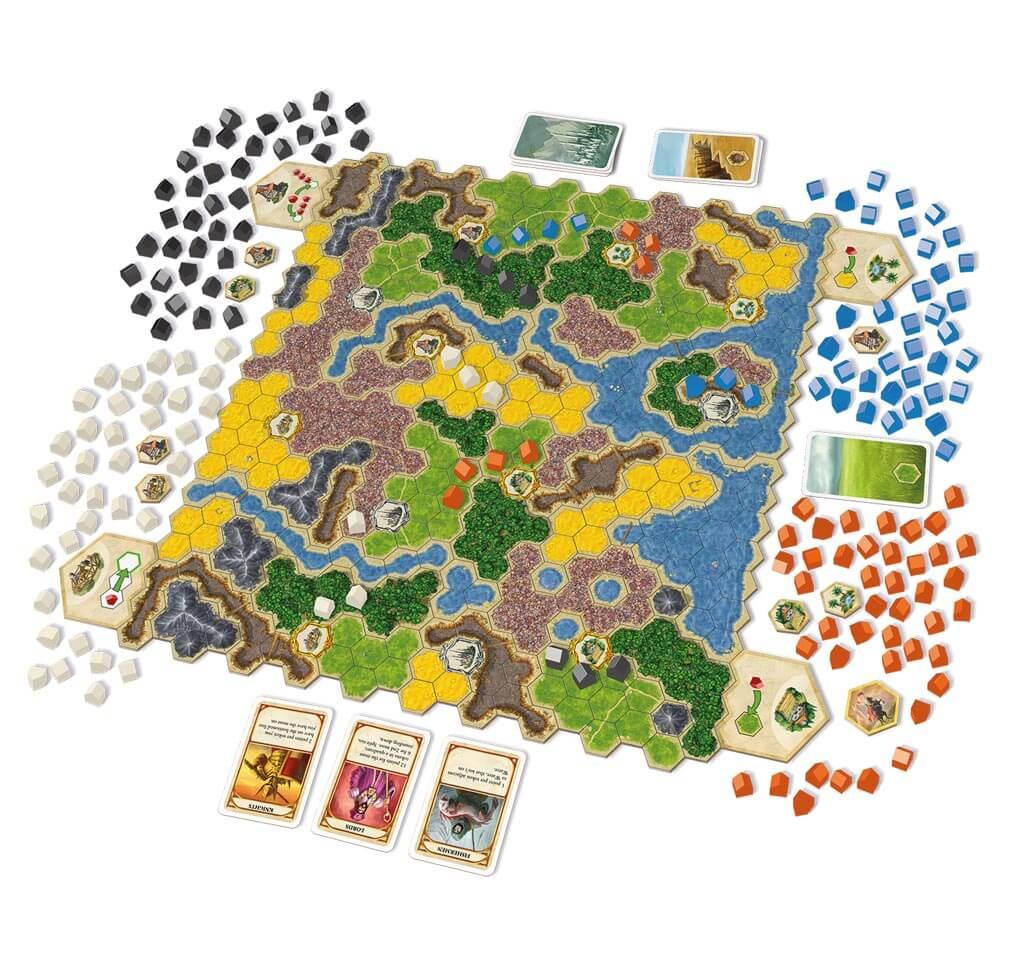 Spielmaterial - Spiel des Jahres 2012- Kingdom Builder