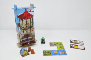 Spielmaterial- Kingdomino - Zeitalter der Giganten