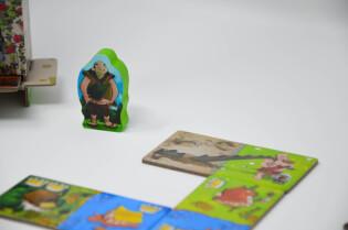 Spielmaterila und Spielfigur- Kingdomino - Zeitalter der Giganten