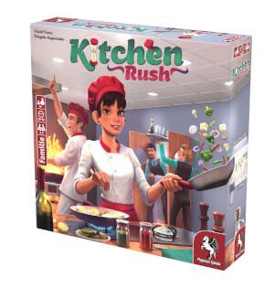 Schachtel Vorderseite, rechte Seite - Empfohlen zum Spiel des Jahres 2020- Kitchen Rush