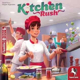 Schachtel Vorderseite - Empfohlen zum Spiel des Jahres 2020- Kitchen Rush