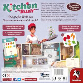 Schachtel Rückseite - Empfohlen zum Spiel des Jahres 2020- Kitchen Rush