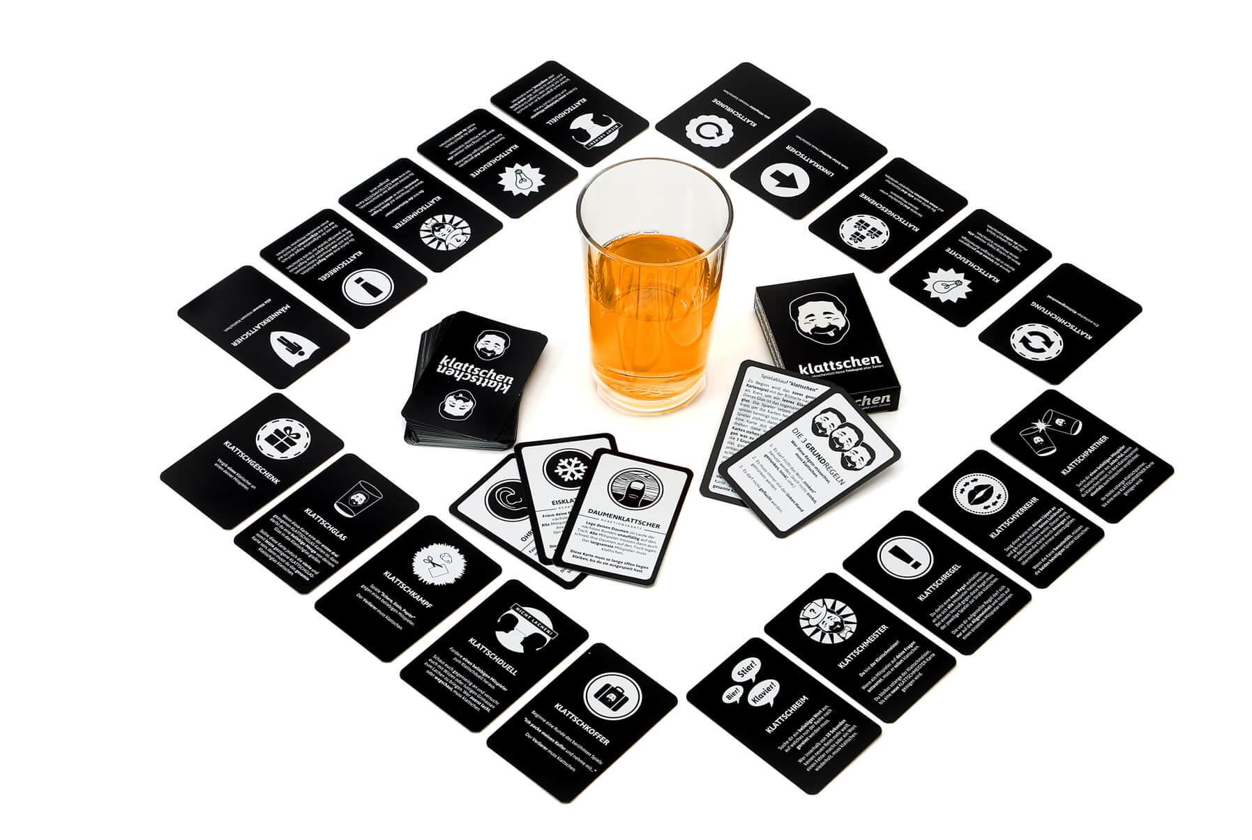 Spielmaterial- klattschen - Das wahrscheinlich beste Trinkspiel aller Zeiten