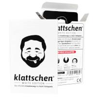 Schachtel Vorderseite und Karten - klattschen – White Edition