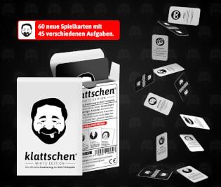 Schachtel und Karten- klattschen – White Edition