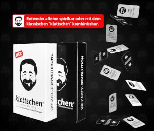 Schachtel Vorderseite und Karten- klattschen – White Edition