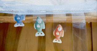 Spielmaterial Fische- Krasserfall